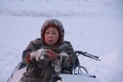 Думы на снегоходе.  / Thoughts on a snowmobile