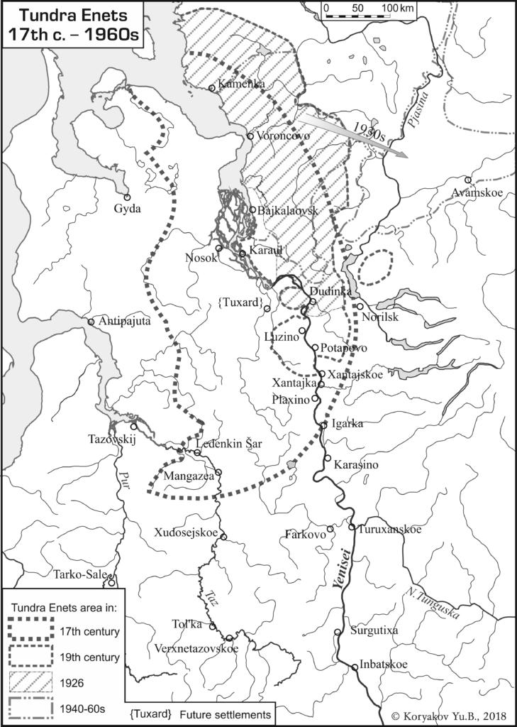 Tundra Enets (17th c. – 1960s); авторы Ю.Б.Коряков, О.В.Ханина