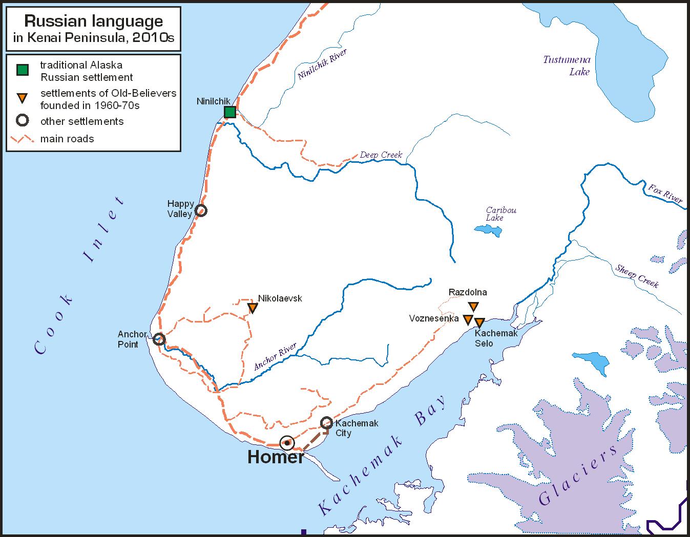 Russian language in Kenai Peninsula