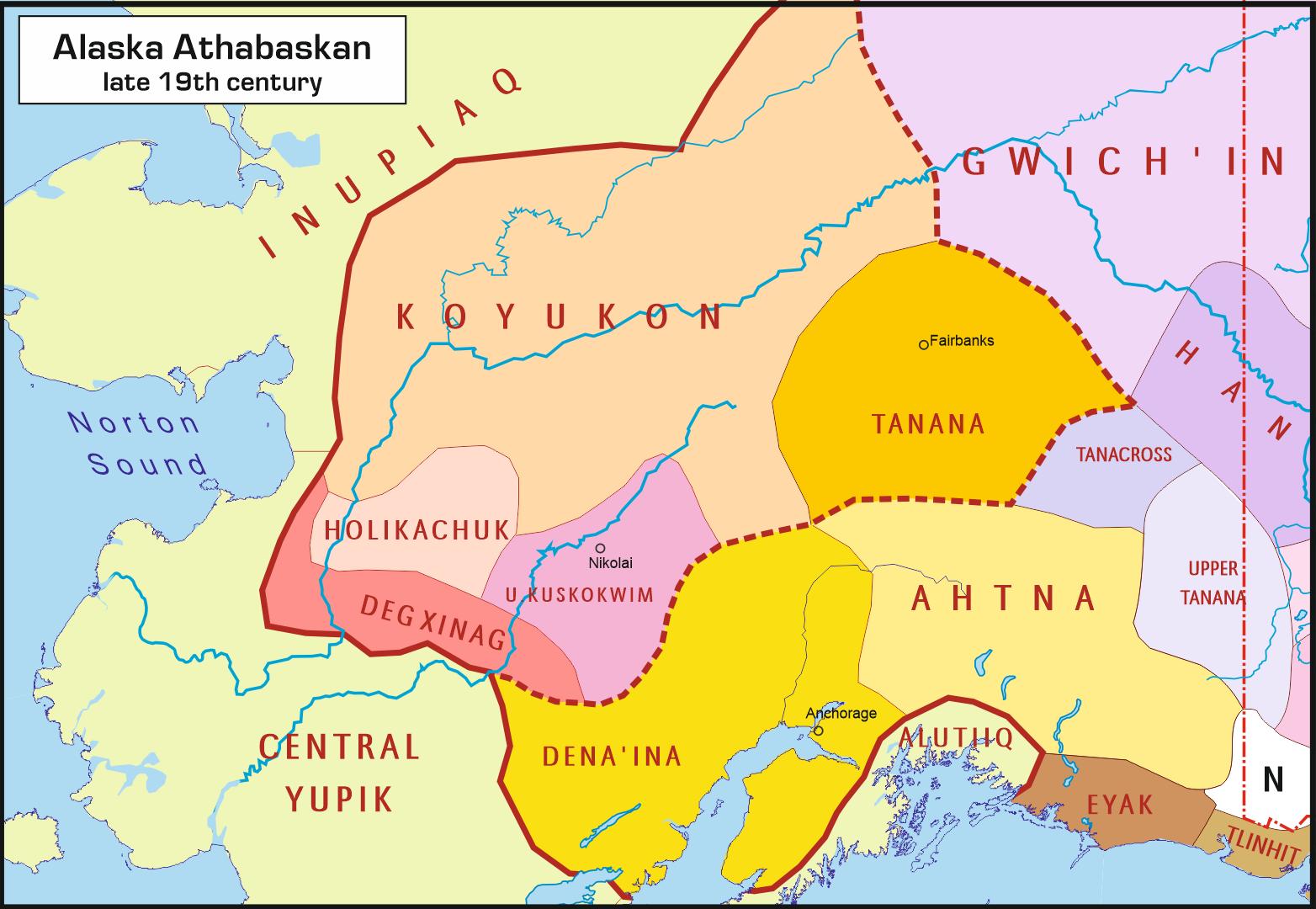 Языки Внутренней Аляски (XVIII в.)