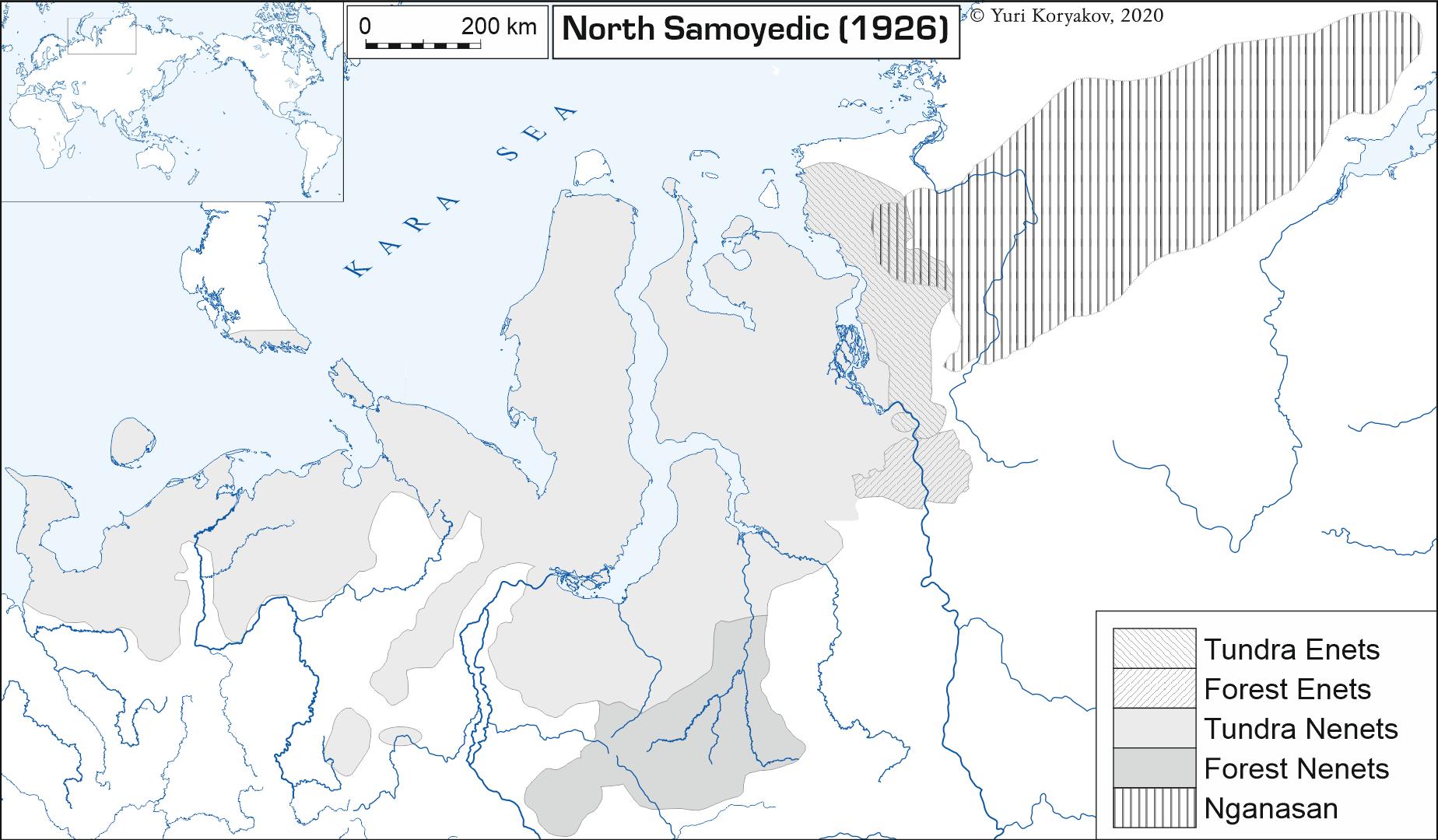 North Samoedic, 1926;