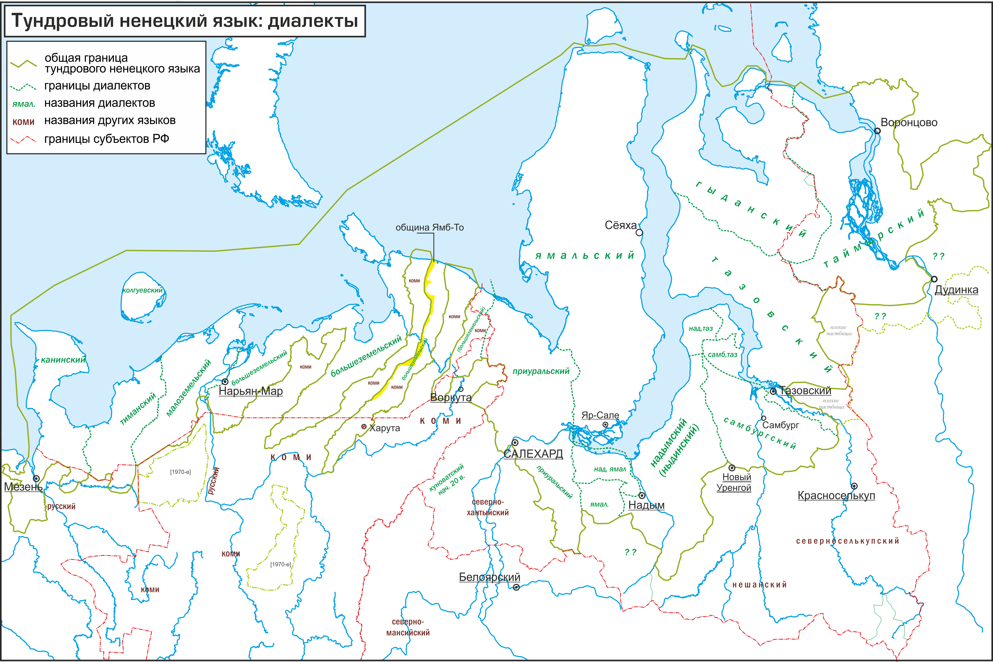 Ненецкие диалекты